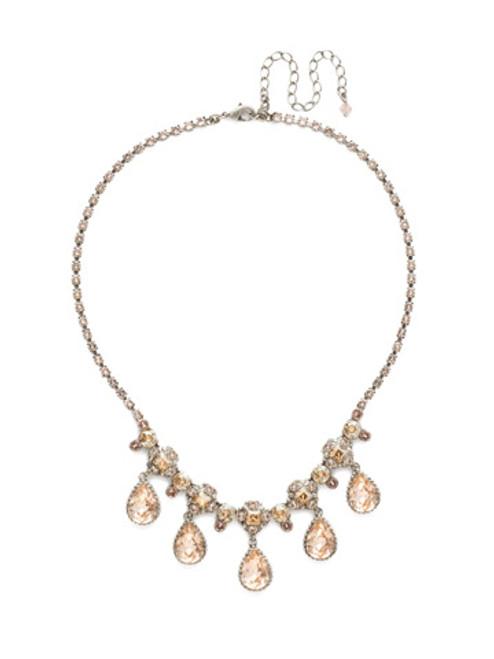 Sorrelli Satin Blush Crystal Necklace NDT5ASSBL