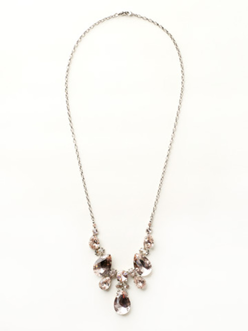 Sorrelli Satin Blush Crystal Necklace NCR77ASSBL
