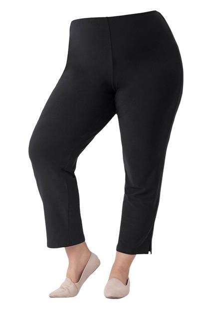 Narrow Pant Midi by Sympli~Plus Size-2748G-Black