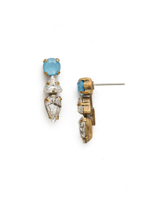 DENIM BLUE Crystal Earring by Sorrelli EDM48AGSMR