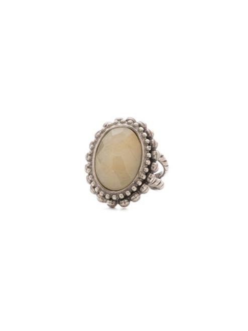 Sorrelli Mirage Crystal Antique Silver Ring RDQ11ASMIR
