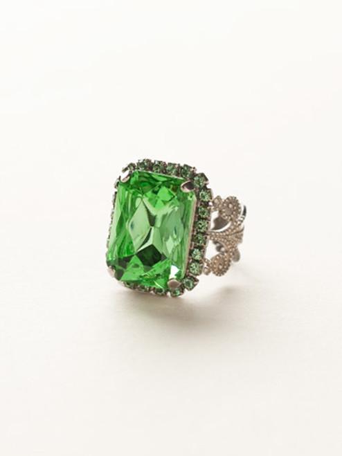 Sorrelli Sea Glass - Petite Emerald Cut Cocktail Ring~ RCF9ASSGL