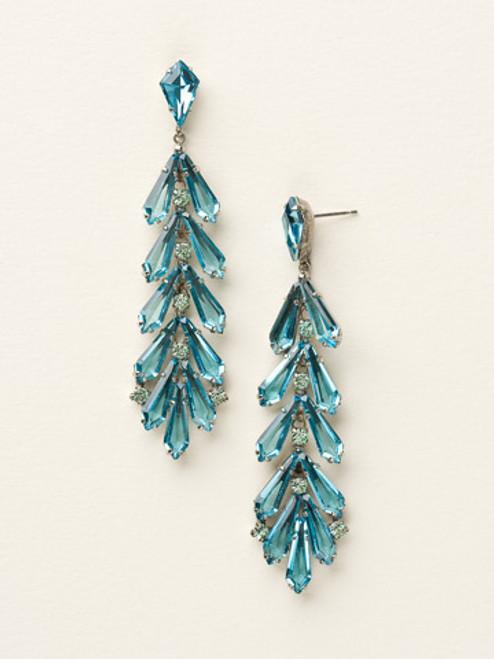 Sorrelli Sea Glass -Teeming Teardrop Earrings~ ECQ41ASSGL