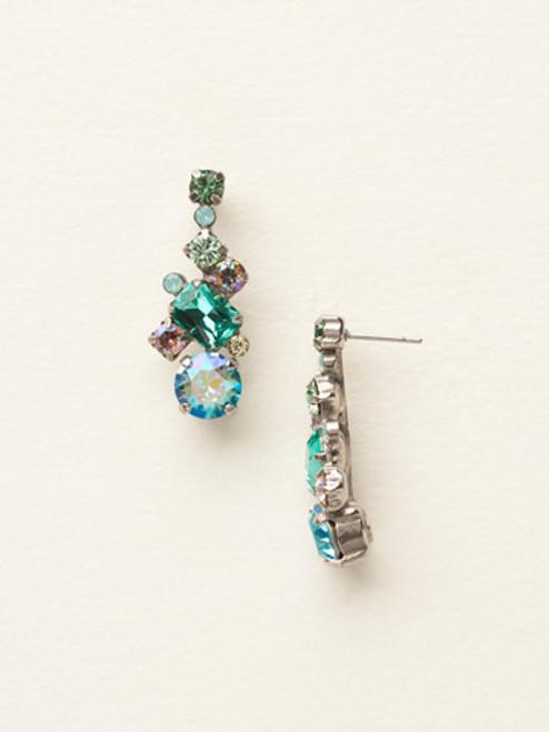 Sorrelli Sea Glass Crystal Earrings ECF6ASSGL