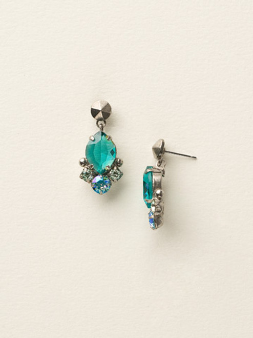 Sorrelli Sea Glass Crystal Earrings ecy14assgl