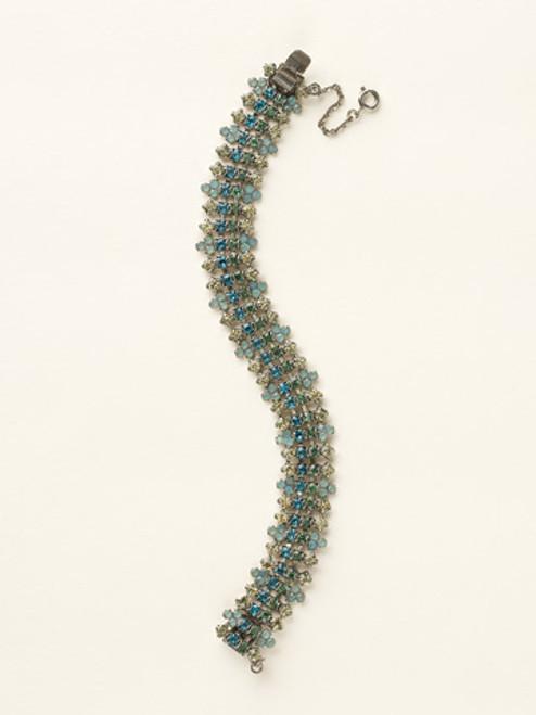 Sorrelli Sea Glass- Rhinestone Crystal Cluster Line Bracelet~ BCY7ASSGL