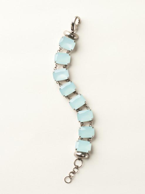 Sorrelli Sea Glass- Crystal Octagon Line Bracelet~ BCY11ASSGL