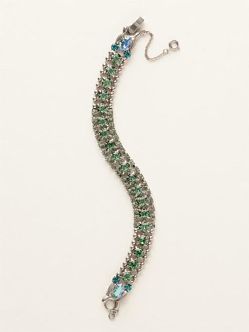 Sorrelli Sea Glass- Right on Track Tennis Bracelet~ BCN5ASSGL