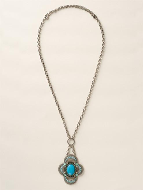 Sorrelli Sea Glass Crystal Necklace~NCY17ASSGL