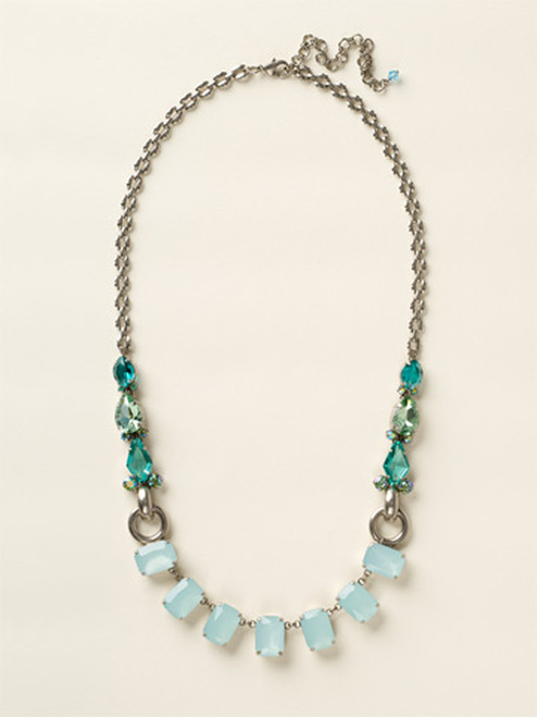 Sorrelli Sea Glass- Multi- Cut Crystal Long Strand Necklace~ NCY11ASSGL