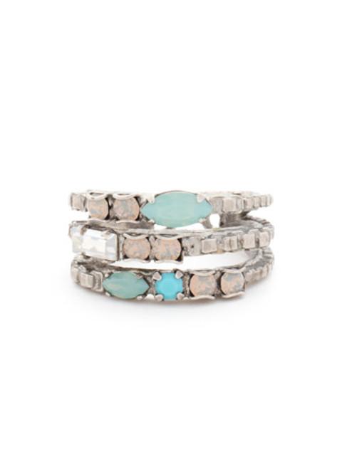Sorrelli Aegean Sea Crystal Ring-RCT29ASAES