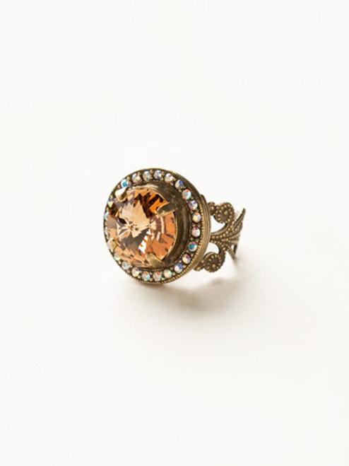 Sorrelli Amaretto- Bold Bauble Ring~ RCM5AGAMA