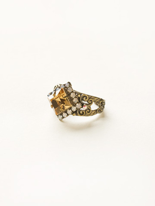 Sorrelli Amaretto- Perfectly Pointed Ring~ RCP9AGAMA