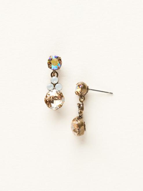 Sorrelli Amaretto- Classic Clover Earrings~ ECD3AGAMA