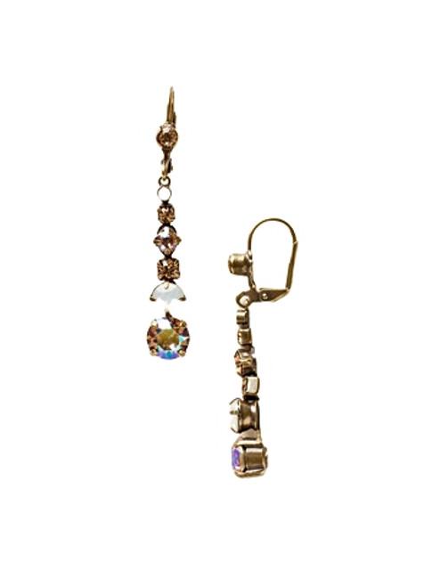 Sorrelli AMARETTO- Dazzling Dotted Line Dangle Earrings~ ECQ14AGAMA