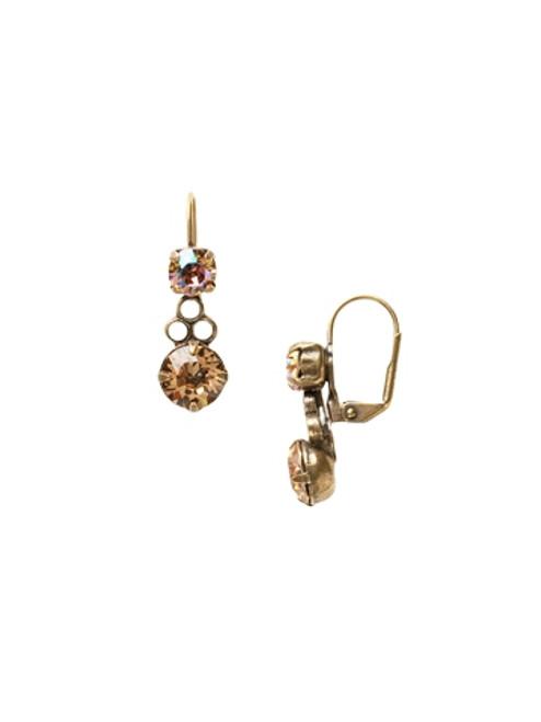 Sorrelli AMARETTO- Clustered Circular Crystal Drop Dangle Earrings~ ECJ14AGAMA