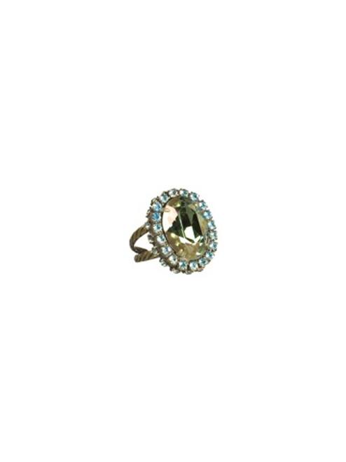 Sorrelli AQUA BUBBLES- Glamorous Oval-Cut Cocktail Ring~ RBT68AGAQB