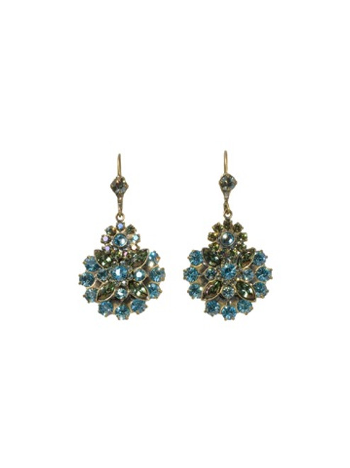 Sorrelli Aqua Bubbles Crystal Earrings ebt2agaqb