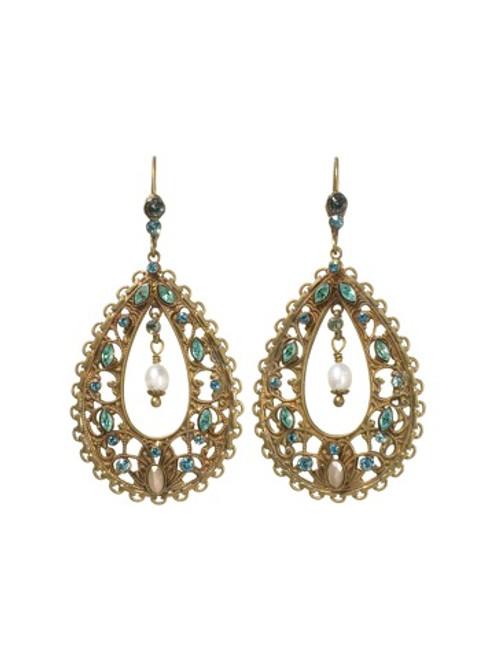 Sorrelli AQUA BUBBLES- Crystal Teardrop Shaped Earrings~ EBW35AGAQB