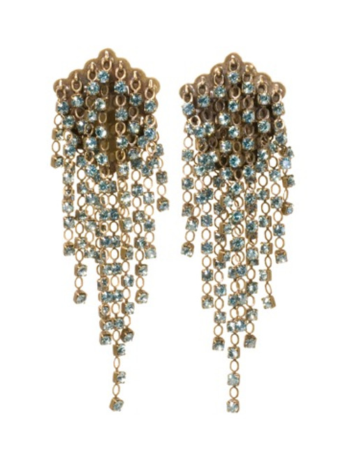 SORRELLI AQUA BUBBLES CRYSTAL EARRINGS EBW49AGAQB