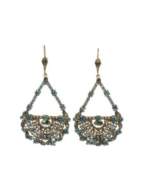 Sorrelli Aqua Bubbles Crystal Earrings