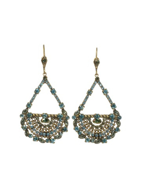 Sorrelli AQUA BUBBLES- Crystal Teardrop Earrings~ EBU8AGAQB