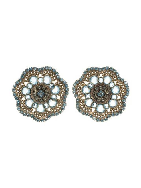 Sorrelli AQUA BUBBLES Crystal Earrings~ EBW9AGAQB