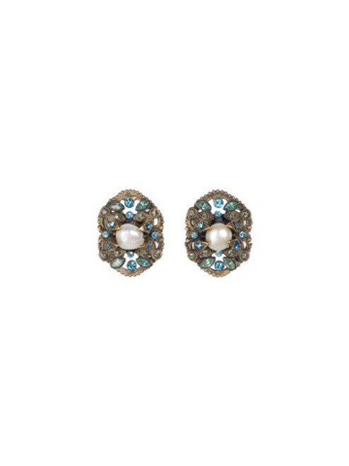 Sorrelli Aqua Bubbles Crystal Earrings EBW51AGAQB