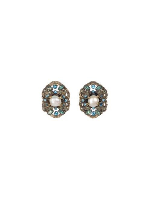 Sorrelli AQUA BUBBLES - Brilliant Badge Earrings~ EBW51AGAQB