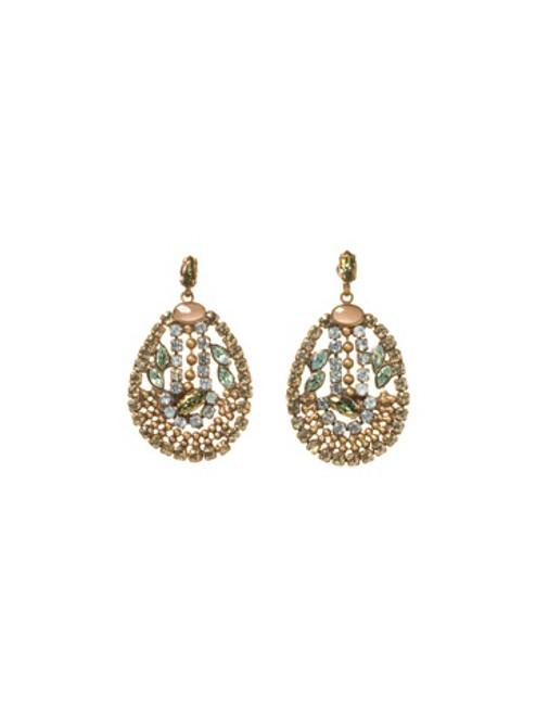 Sorrelli AQUA BUBBLES - Crystal Earrings~ EBU10AGAQB