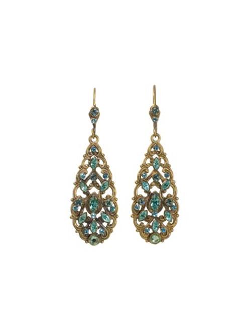 Sorrelli AQUA BUBBLES- Elongated Teardrop Earrings~ EBW36AGAQB