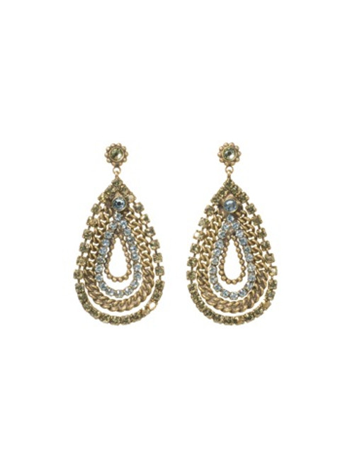 Sorrelli AQUA BUBBLES- Crystal Earrings~ EBU11AGAQB