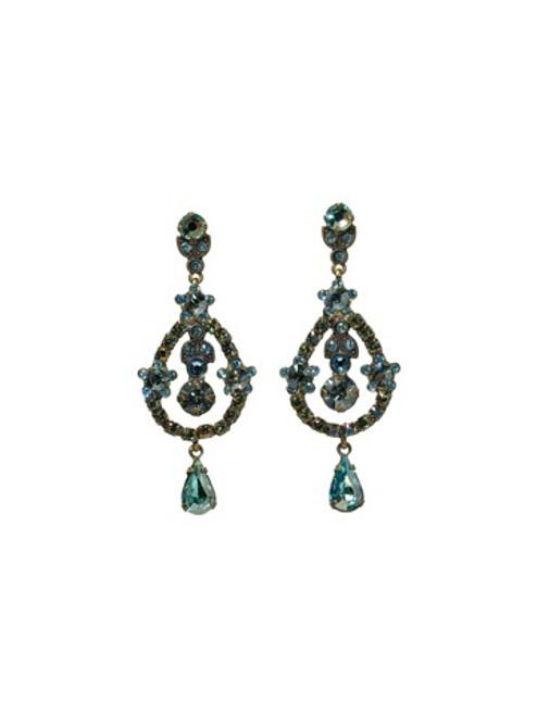 Sorrelli AQUA BUBBLES- Debutante Earrings~ EBS68AGAQB