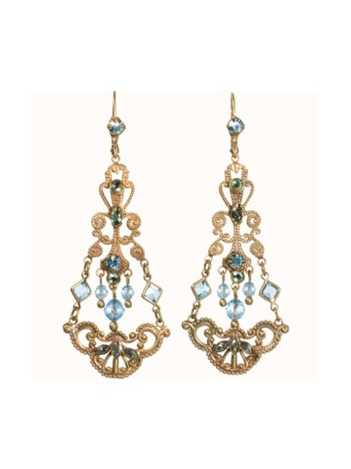 Sorrelli Aqua Bubbles Crystal Earrings ebw40agaqb