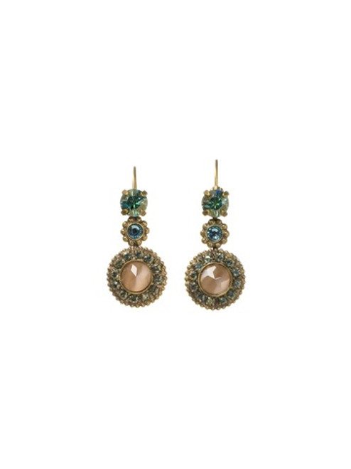 SORRELLI AQUA BUBBLES CRYSTAL EARRINGS EBW56AGAQB