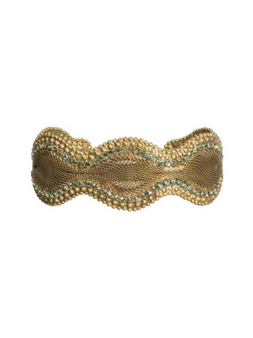 Sorrelli AQUA BUBBLES- Crystal and Mesh Cuff Bracelet~ BBW26AGAQB