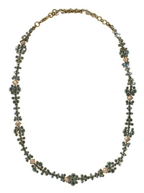 Sorrelli AQUA BUBBLES - Crystal Necklace~ NBW7AGAQB
