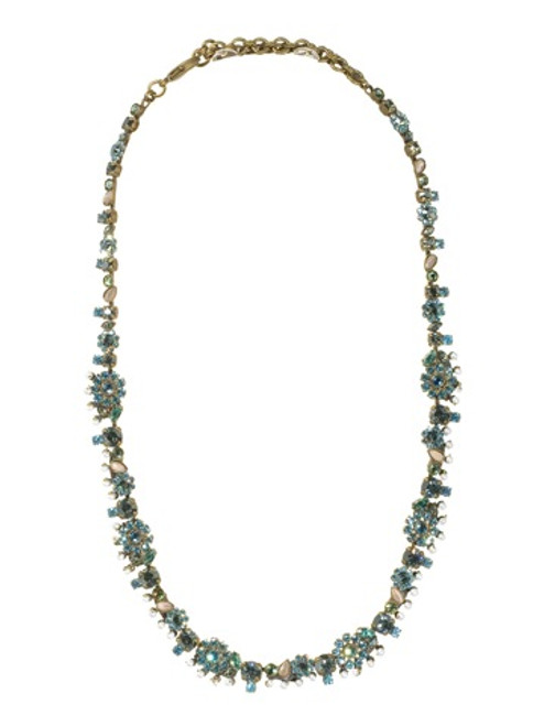 Sorrelli Aqua Bubbles Crystal Necklace NBT11AGAQB