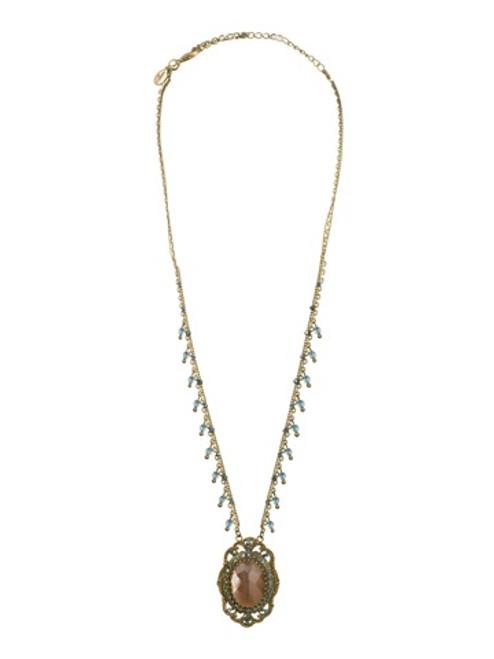 Sorrelli AQUA BUBBLES - Crystal Pendant Necklace~ NBW12AGAQB