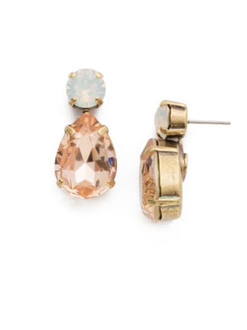 Sorrelli White Magnolia Crystal Earrings ecm9agwma