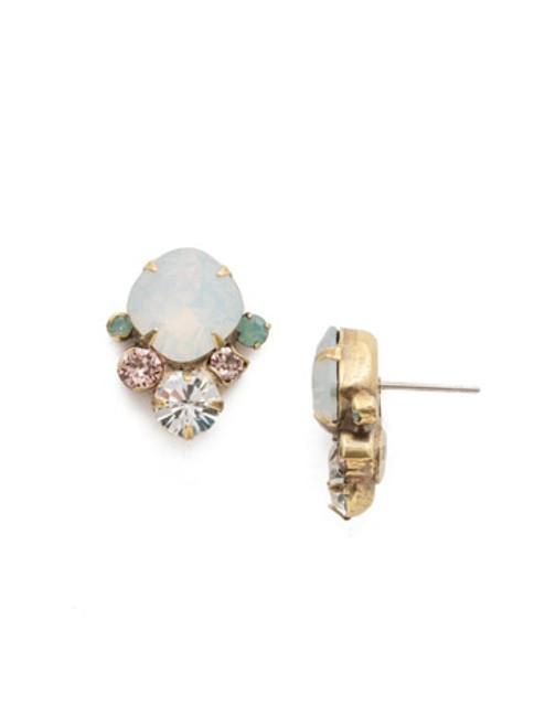 special order sorrelli white magnolia crystal earring edg96agwma
