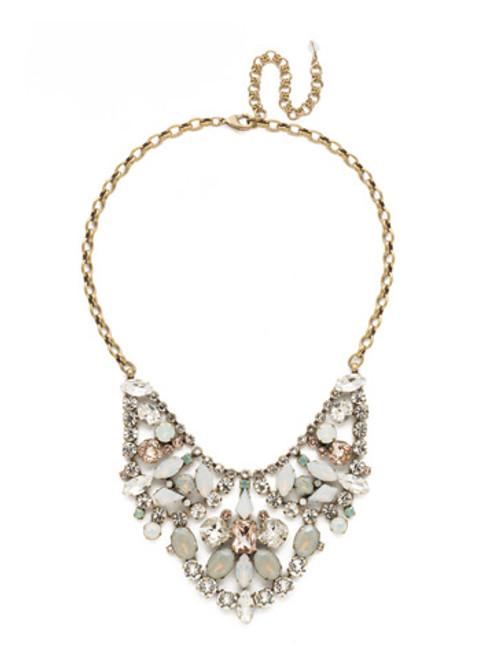 Sorrelli White Magnolia Crystal Necklace ndu39agwma