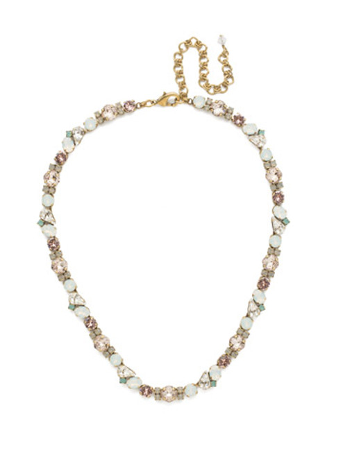 SORRELLI WHITE MAGNOLIA CRYSTAL NECKLACE NDU5AGWMA