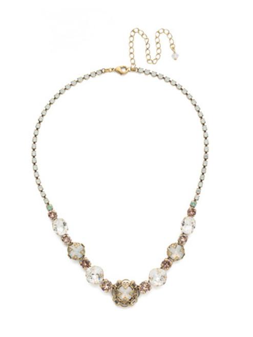 Sorrelli White Magnolia- Echeveria Tennis Necklace~ NDU17AGWMA