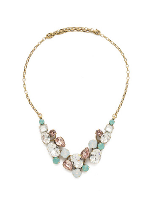 Sorrelli White Magnolia Crystal Necklace