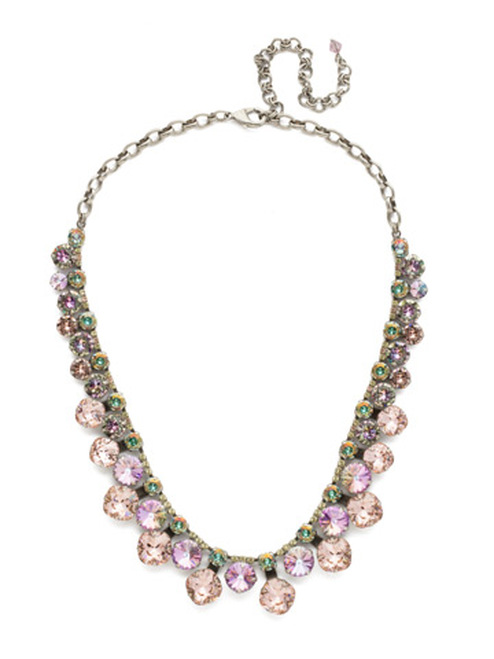 Lilac Pastel Crystal Necklace