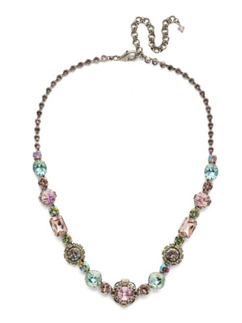 Sorrelli Lilac Pastel Crystal Necklace ndu18aslpa
