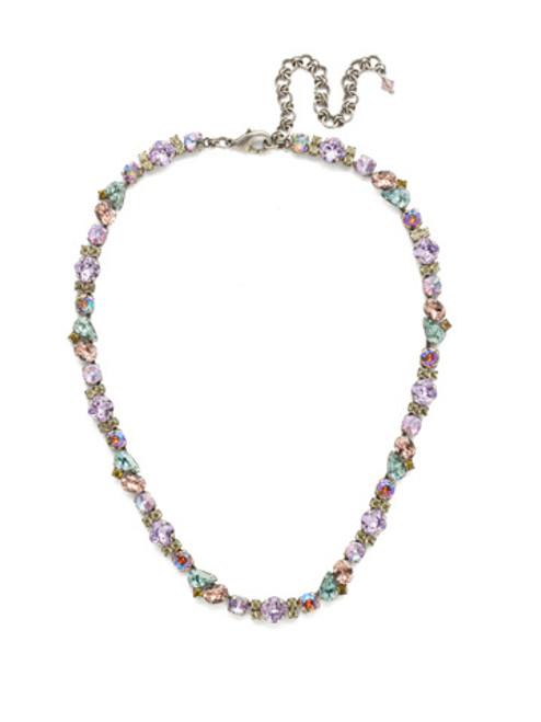 genuine semi-precious stones Crystal Necklace