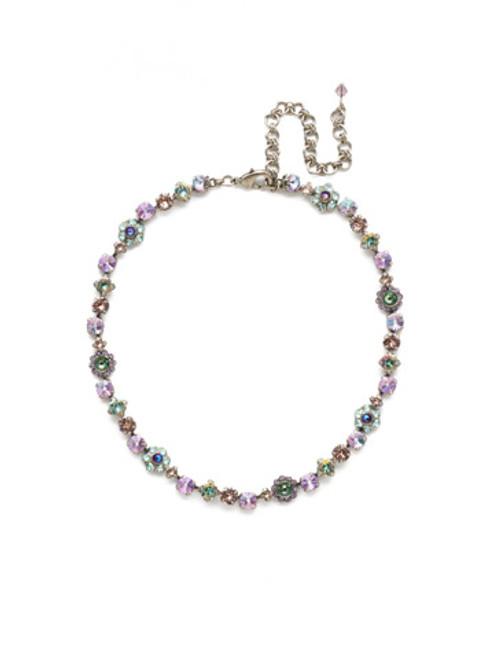Lilac Pastel Crystal Necklace nbe2aslpa