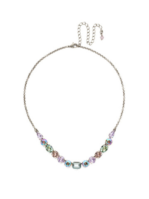 Sorrelli Lilac Pastel Crystal Necklace